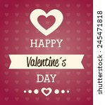 valentines day over red... | Shutterstock .eps vector #245471818