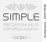 simple font made of thin lines  ... | Shutterstock .eps vector #245474938