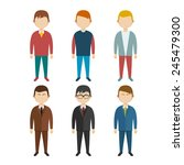 set of flat human characters ... | Shutterstock .eps vector #245479300