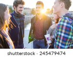 young people in real authentic... | Shutterstock . vector #245479474