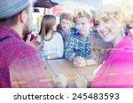 double exposure of young people ... | Shutterstock . vector #245483593