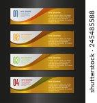 gold modern text box template... | Shutterstock .eps vector #245485588