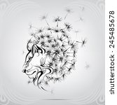 Lion With A Mane Of Dandelion
