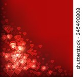 abstract heart bokeh red... | Shutterstock .eps vector #245490808
