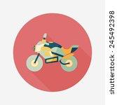 transportation motorcycle flat... | Shutterstock .eps vector #245492398