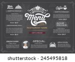 restaurant food menu design... | Shutterstock .eps vector #245495818