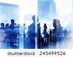 business people silhouette... | Shutterstock . vector #245499526
