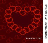 happy valentine's day lettering ... | Shutterstock .eps vector #245500468