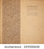 vector ornate background with... | Shutterstock .eps vector #245500630