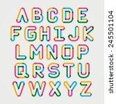 alphabet line transparent color ... | Shutterstock .eps vector #245501104
