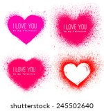 vector spray stains. valentines ... | Shutterstock .eps vector #245502640