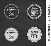 abstract black friday objects... | Shutterstock .eps vector #245502850