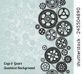 mechanism background with... | Shutterstock .eps vector #245504890