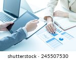 business people discussing the... | Shutterstock . vector #245507530