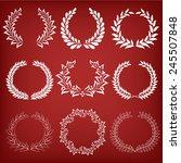 set floral frames. vector...   Shutterstock .eps vector #245507848
