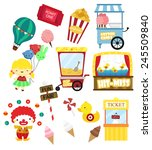 carnival vector set  no... | Shutterstock .eps vector #245509840