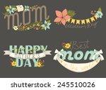 A Set Of Floral Design...