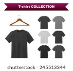 black t shirt template with... | Shutterstock .eps vector #245513344