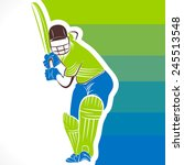 cricket player ready for... | Shutterstock .eps vector #245513548