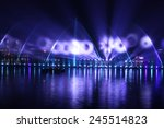 beautiful dancing fountain | Shutterstock . vector #245514823