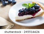 Piece Of Blueberry Cheesecake...