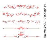 set calligraphic valentine's... | Shutterstock .eps vector #245518414