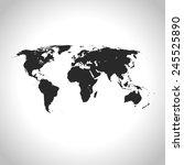 world map | Shutterstock .eps vector #245525890