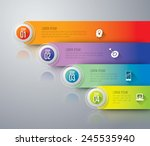 abstract 3d digital... | Shutterstock .eps vector #245535940
