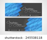 business headers with company's ... | Shutterstock .eps vector #245538118