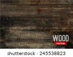 vector wood texture. background ... | Shutterstock .eps vector #245538823