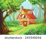 Forest Cottage   Illustration...