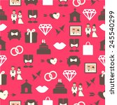 seamless pattern with wedding... | Shutterstock .eps vector #245540299