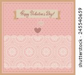 Valentine\'s Day Card With Lace...