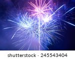 blue and purple colorful... | Shutterstock . vector #245543404
