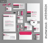 white corporate identity... | Shutterstock .eps vector #245545024