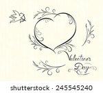 valentines day monochrome card...
