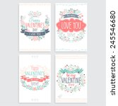 valentine s day hand drawn card ... | Shutterstock .eps vector #245546680