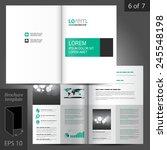 white classic brochure template ... | Shutterstock .eps vector #245548198