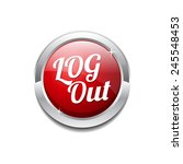log out red vector icon button   Shutterstock .eps vector #245548453