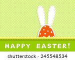 happy easter celebration card   ... | Shutterstock .eps vector #245548534