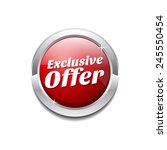 exclusive offer red vector icon ... | Shutterstock .eps vector #245550454