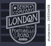 denim london typography  t... | Shutterstock .eps vector #245554438