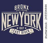 college new york typography  t...