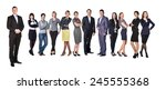 successful businessman standing ... | Shutterstock . vector #245555368