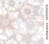 floral seamless pattern.... | Shutterstock .eps vector #245555476