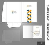white folder template design... | Shutterstock .eps vector #245558848