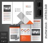 white brochure template design... | Shutterstock .eps vector #245561368