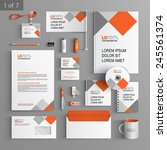 white corporate identity... | Shutterstock .eps vector #245561374