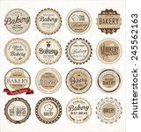 set of vintage bakery labels | Shutterstock .eps vector #245562163