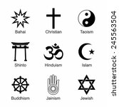 a set of religious symbols.... | Shutterstock .eps vector #245563504